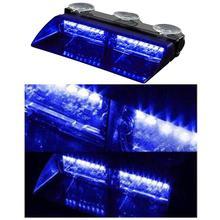 16 LEDs Car Truck Police Strobe Light Dash Emergency Flasher Warning Day Running 12V 8 Flashing Modes Car Light Assembly