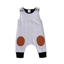 Cotton Baby Kids Boys Girls Infant Sleeveless Romper One Piece Jumpsuit Cotton Clothes Outfit