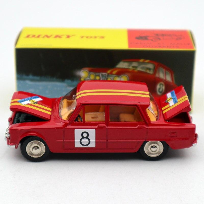 1:43 Atlas Dinky игрушки 1401 ALFA ROMEO 1600 TI ралли #8 литьё под давлением модельных Ограниченная серия коллекции