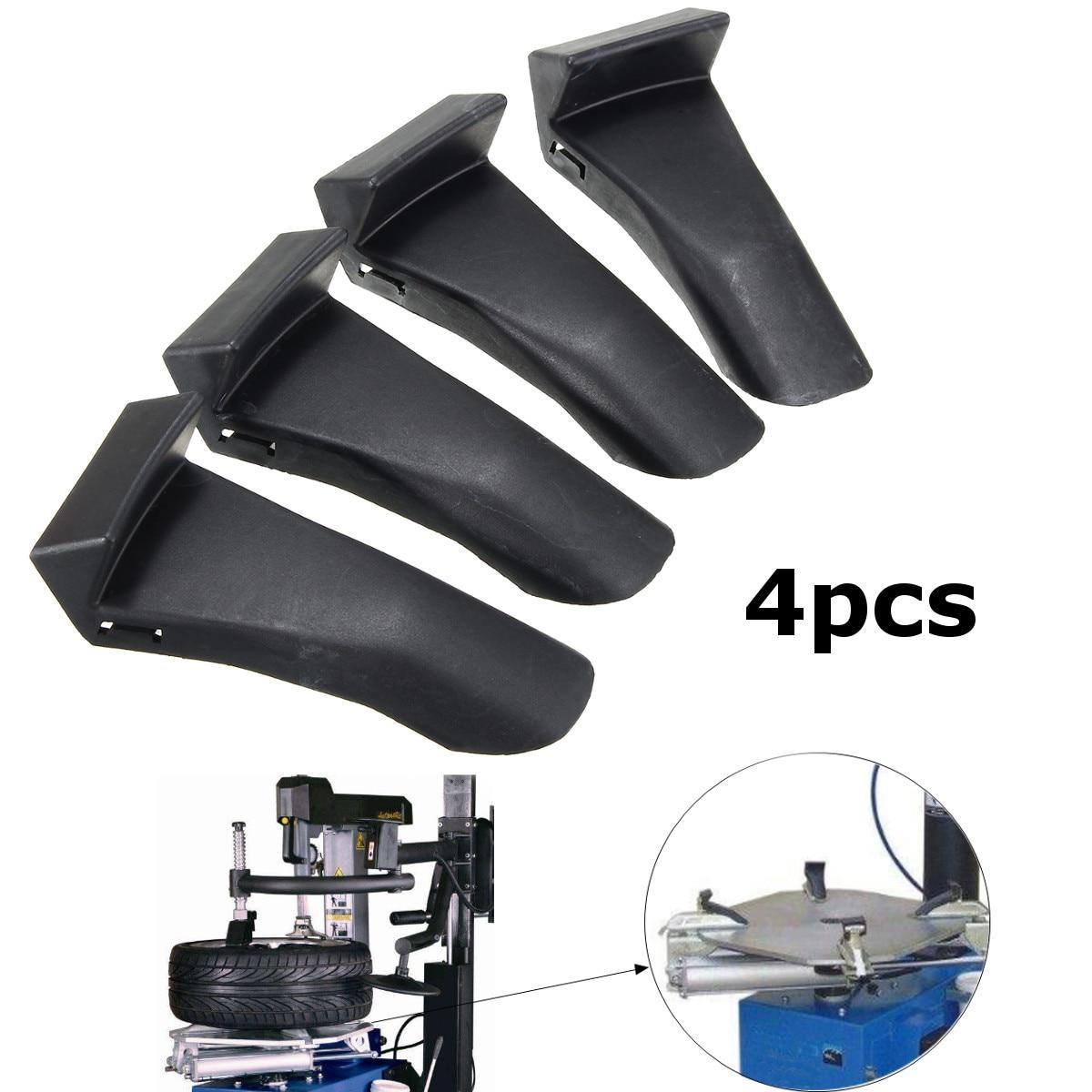 Protector de rueda de plástico negro para cambiador de neumáticos de coche de 4 Uds. 82006393 para 9010E 9010A 9024E 9024A