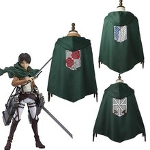 Attaque sur Titan Cosplay manteau Shingeki no Kyojin Cape à capuche Rival Ackerman Mikasa Dot Pixis Robe Scout légion adulte Halloween