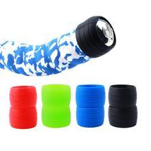 Tapón de silicona para bicicleta, tapón de goma antisalto para bicicleta de carretera, tapones para cinta de manillar, resistente al agua, resistente al desgaste, anillo de silicona para exteriores