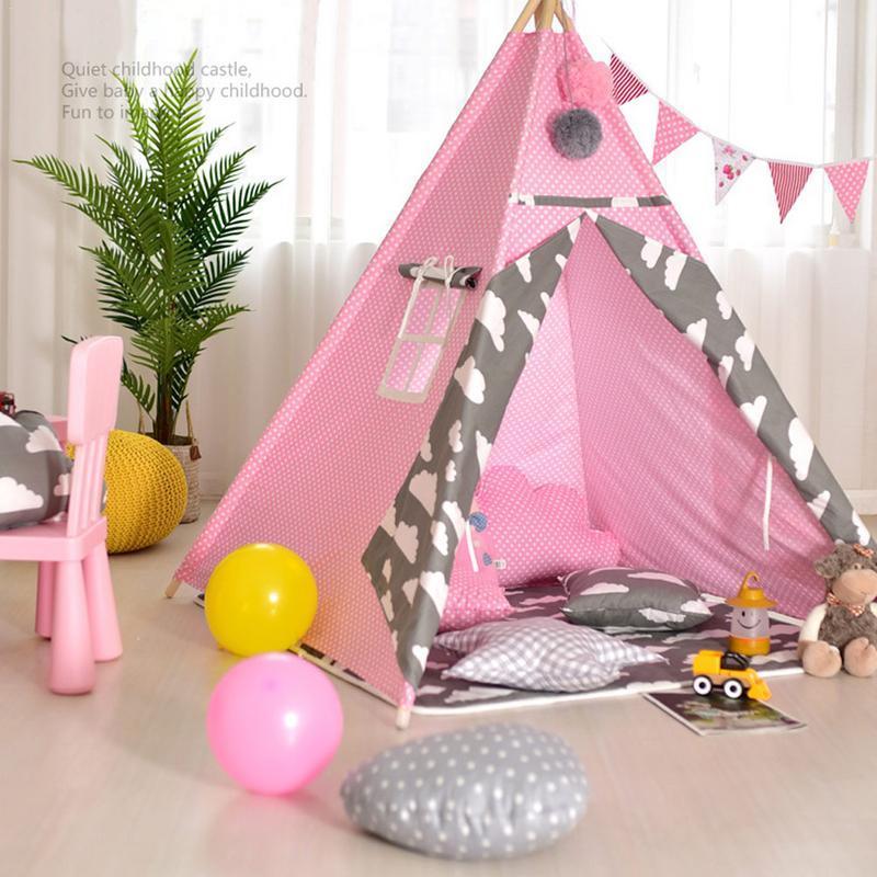 Tienda de juegos para niños de interior tamaño 45*22*13cm Bola de lana blanca decoración Tienda de escalada para bebés sala de juegos interior