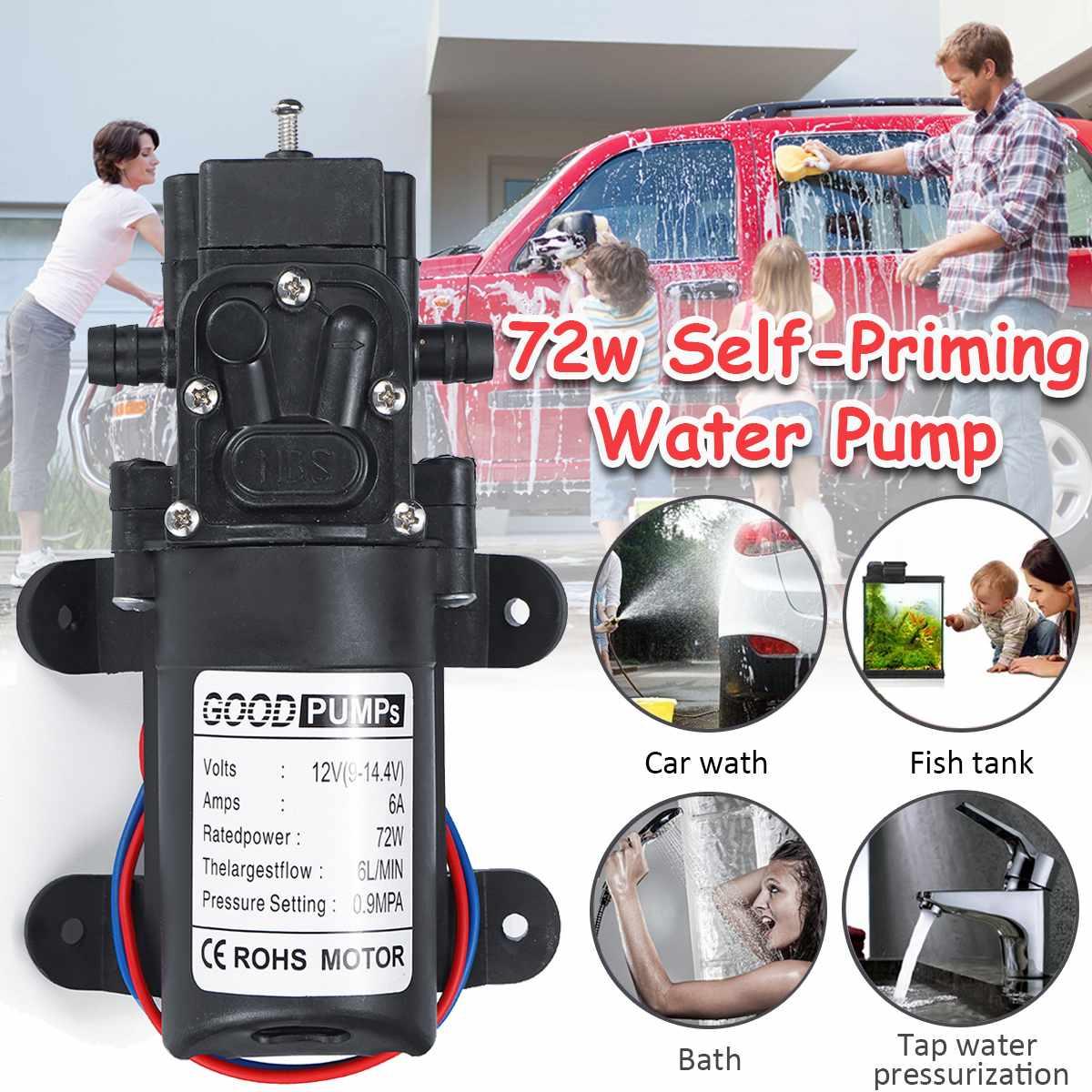 Bomba de lavado de coche con interruptor automático de diafragma pequeño Bomba De Agua De Alta Presión de 12V 6 l/min bomba pulverizadora de riego agrícola de 10mm