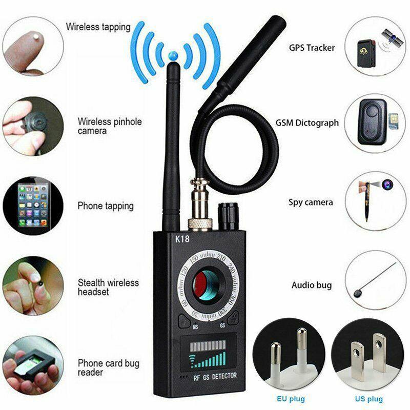 Multi-función Anti Detector Cámara GSM Detector de errores de Audio GPS lente de señal RF Tracker detecta productos inalámbricos 1MHz-6,5 GHz r25