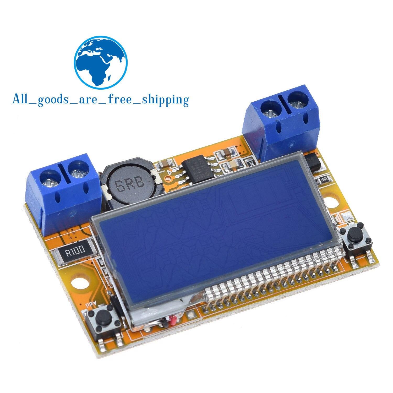 Tzt display duplo DC-DC 5-23 v a 0-16.5 v 3a max step down fonte de alimentação buck conversor ajustável lcd regulador de tensão step-down