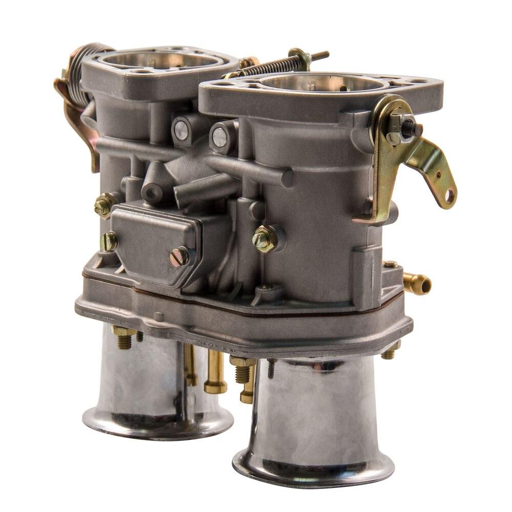 Carburador mecánico Choke 48fdi + cuernos de aire reemplazo Fit Beetle VW Fiat para Bug/para Volkswagen/para Fiat /para Porsche