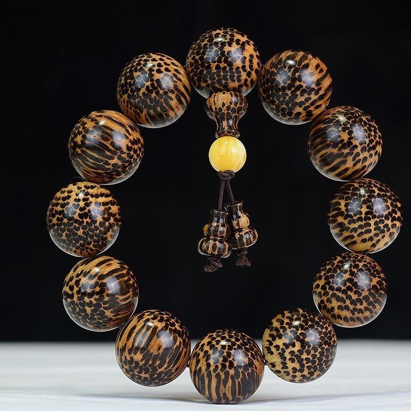 AURAREIKI serpiente escala Buda de madera cuentas Cultura Budista oración Buddha con cuentas de semilla de pulseras del encanto pulsera de abalorios de joyería, regalo