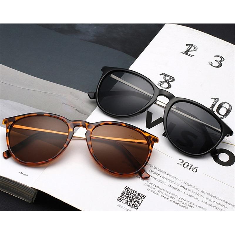 Vintage Retro Oval Round Sunglasses Women Men Brand Designer Sun Glasses for Women Alloy Mirror Sun