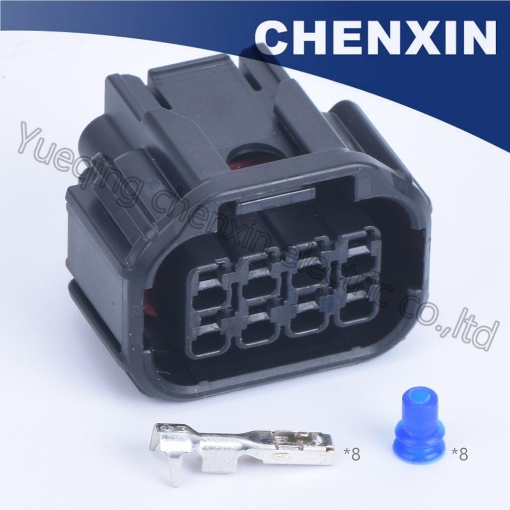 Conector negro para coche de 8 pines, impermeable, para coche, 1,5, conector hembra LED para Faro, Conector de sensor para altavoz, 6189-7423