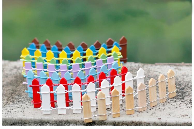 10 Uds 3cm * 10cm suculentas musgo microadornos para paisajismo valla pequeña de madera valla de musgo carnoso suministros de jardín