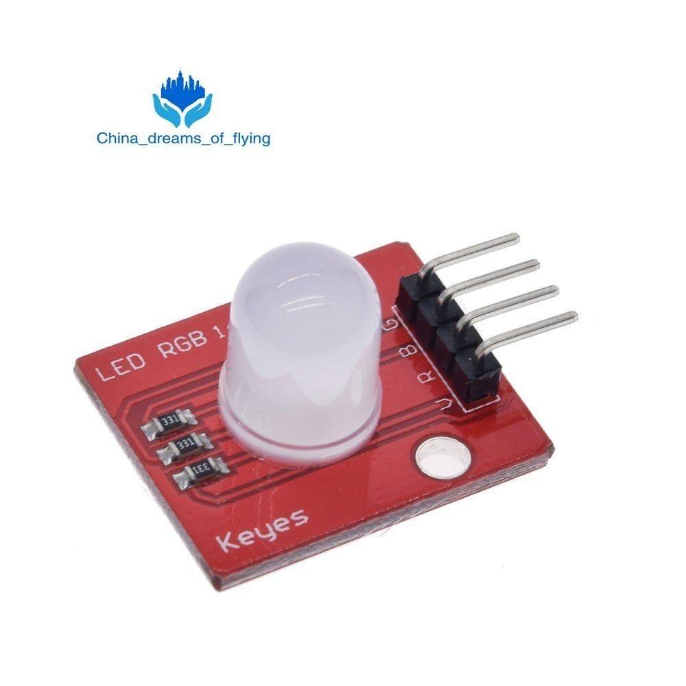 TZT 10mm Full Color RGB LED Module140C5 Electronic Building Blocks for Arduinos DIY Starter Kit