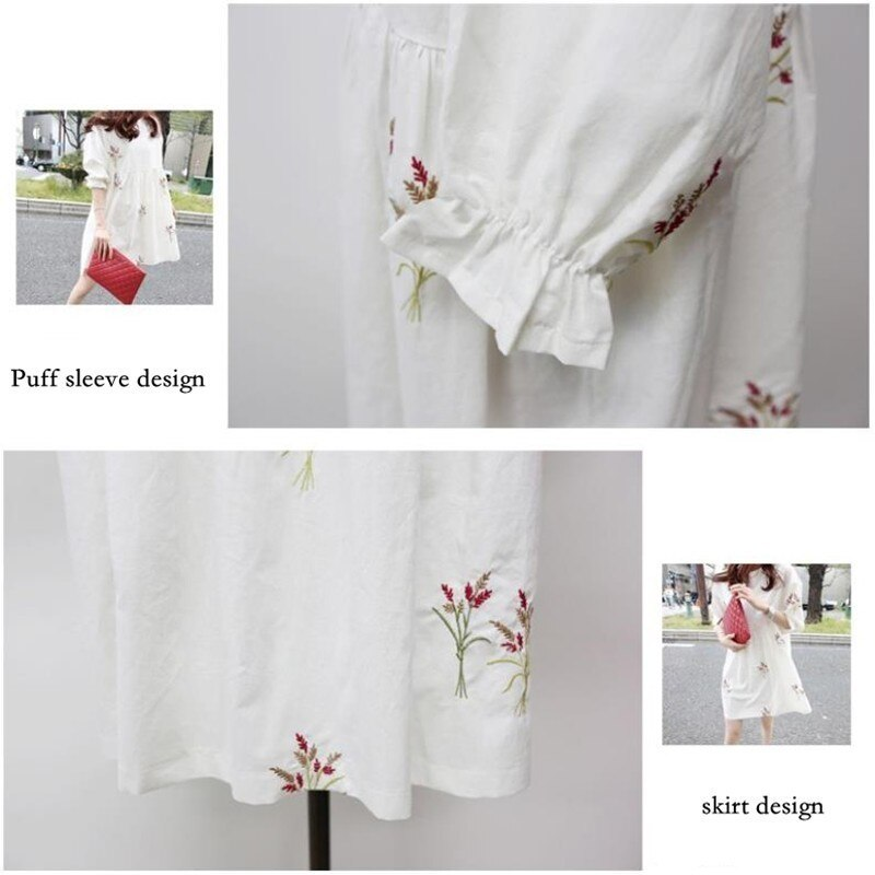 S-3XL Embroidery Maternity Nursing Dress Cotton Clothes For Pregnant Women Breastfeeding Clothing Casual Pregnancy Dresses enlarge