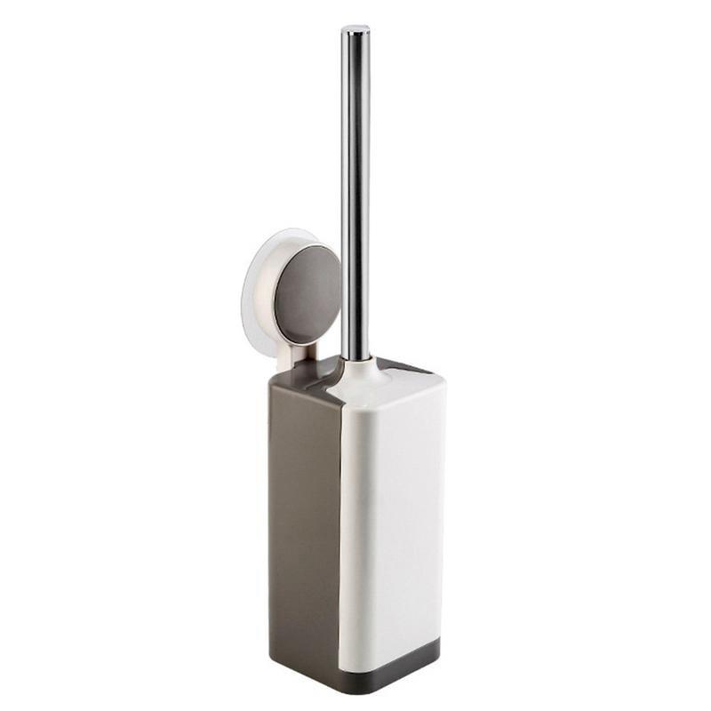 Nuevo cepillo de limpieza de inodoro Set de cepillo y soporte de inodoro herramienta de limpieza ventosa tipo Acero inoxidable limpieza mango largo