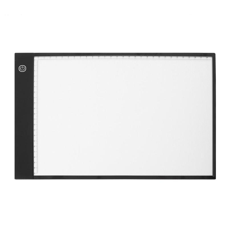 Tableta gráfica Digital A4 LED, tableta de dibujo, pintura, Panel de trazado, plantilla luminosa, pantalla LED, copia, caja de almohadilla, nuevo