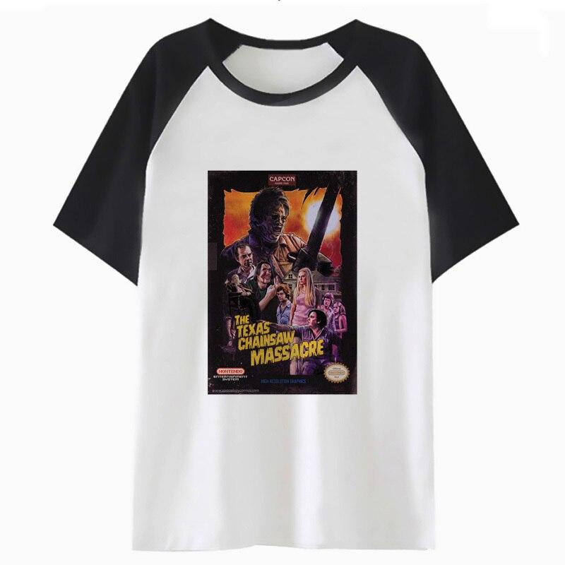 Texas chainsaw massacre camiseta hop streetwear para top engraçado tshirt dos homens t-shirt roupa masculina harajuku hip tee H2409