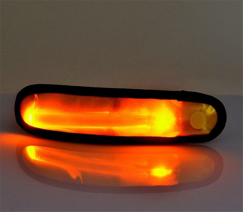 Brazalete LED para correr, brazalete para correr, batería reemplazable, brazalete para correr, equipo para correr 100 unids/lote