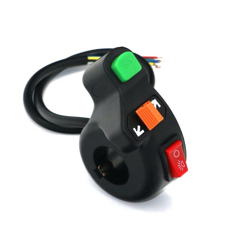 Frete grátis novo universal farol, sinal de volta & chifre guiador interruptor para bicicleta elétrica da motocicleta/scooter trike