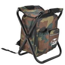 2 в 1 складная сумка для рыболовного стула рюкзак со стулом удобный износостойкий для наружного охотничьего альпинизма