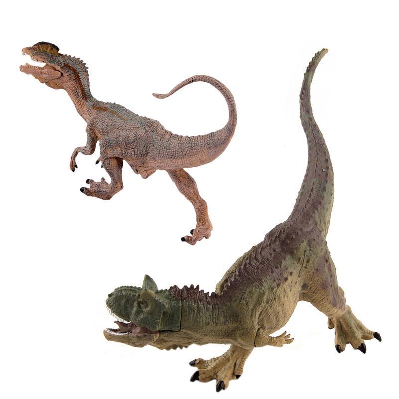 Figura del mundo del dinosaurio de juguete con la mandíbula móvil