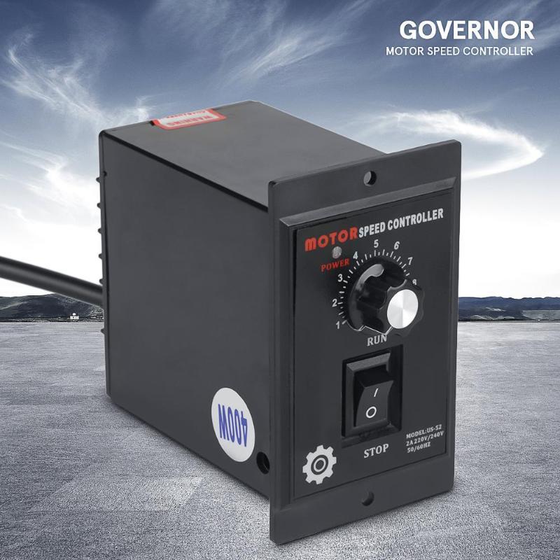 1 pces ac controlador de velocidade do motor 400w ac 220v velocidade do motor regulador de ponto para a frente e para trás Controlador do motor    -