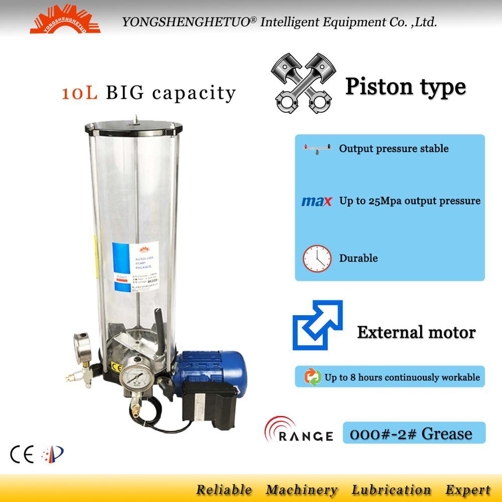 Bomba de lubricación de grasa de motor externo eléctrico, lubricador, lubricante, EGO-P de control PLC 10L para maquinaria pesada, mezclador de forja de camión