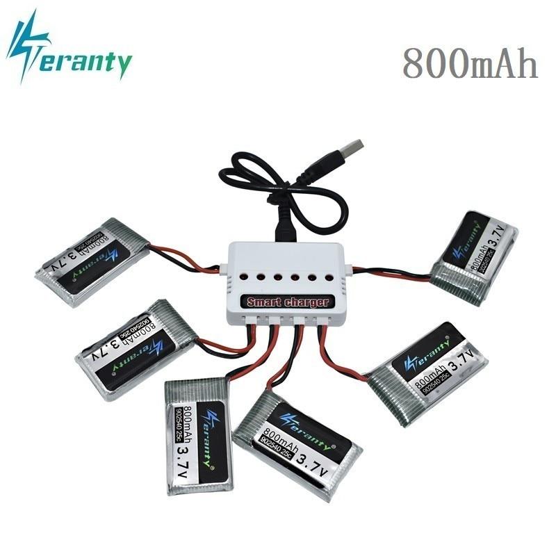 3.7 v 800 mah 25c lipo bateria e carregador usb para syma x5c x5sc x5sw tk m68 CX-30 k60 v931 rc quadcopter zangão peça de reposição 902540