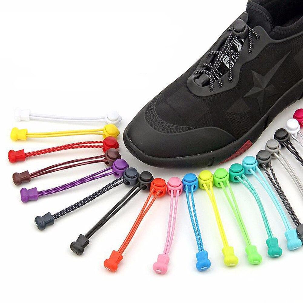 1 ud. De Cordones de zapatos elásticos para perezosos sin Cordones para zapatillas, sistema de encaje de calidad, Cordones de colores con bloqueo, Zapato para entrenador de corredores