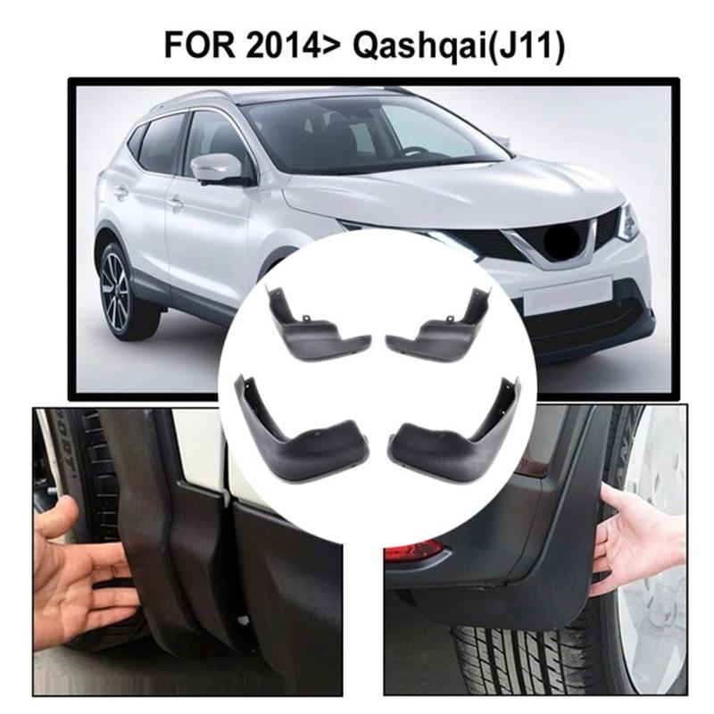 Front Rear Set Molded Car Mud Flaps For Nissan Qashqai J11 2014 2015 2016 2017 Mud Flaps Splash Guards Mud Flap Mudguards Fend