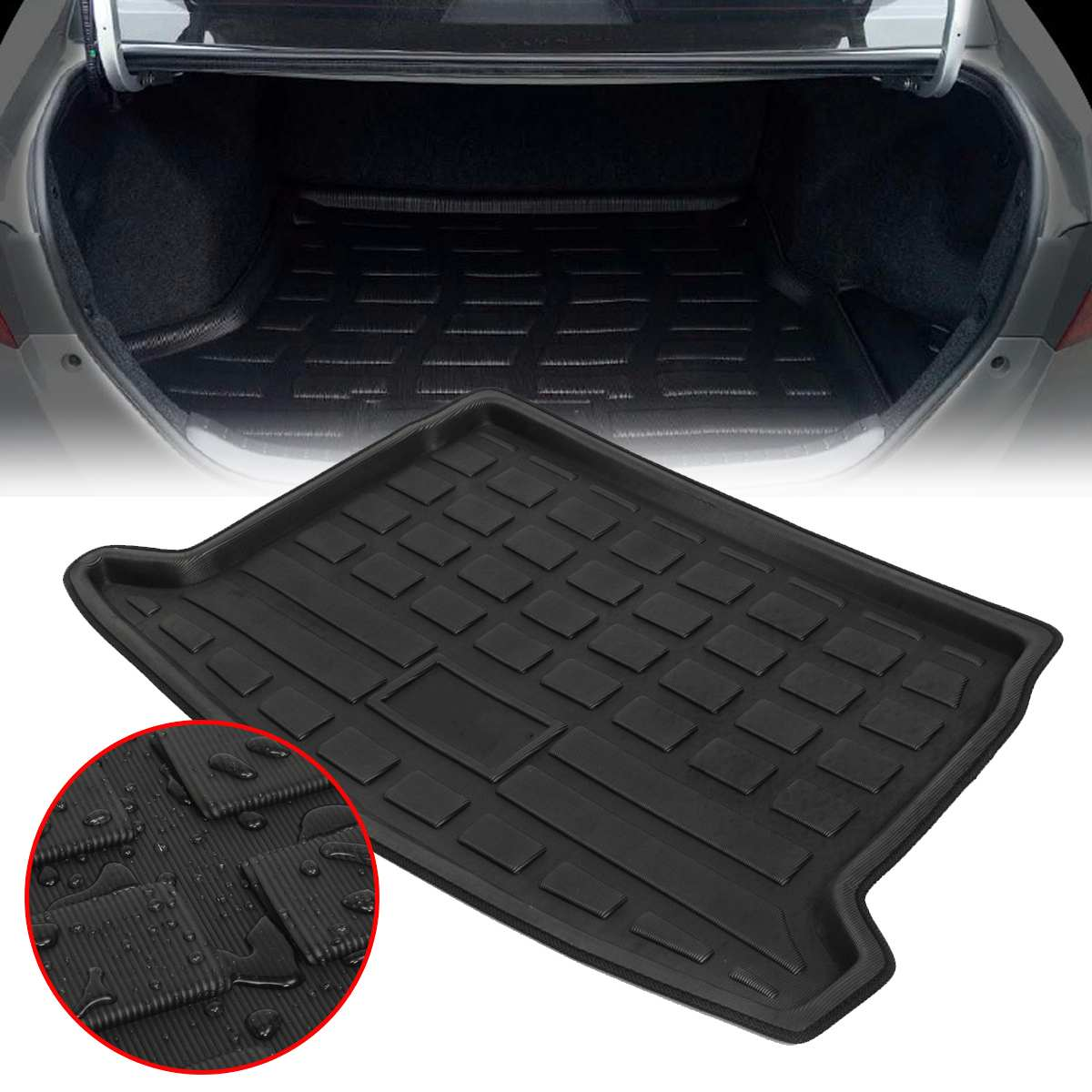 Bandeja para maletero de coche EVA, cojín para maletero, alfombrilla con revestimiento de maletero, carga para VW Golf 6 GTI 2009-2013