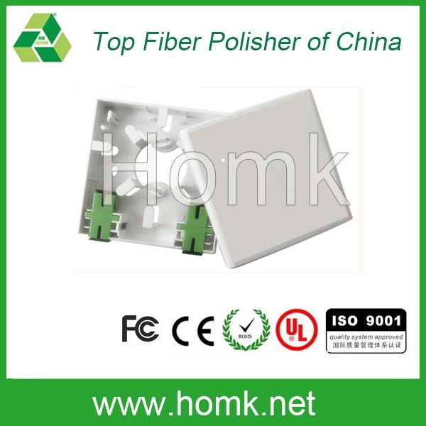 2 núcleos SC fibra óptica placa frontal FTTH Caja mini ODF para interior
