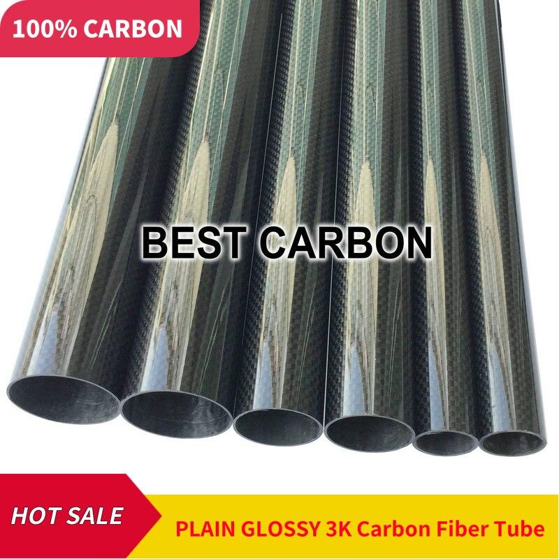 5pcs of 5mm x 3mm x 1000mm High Quality 3K Carbon Fiber Fabric Wound Tube Carbon Tail Boom