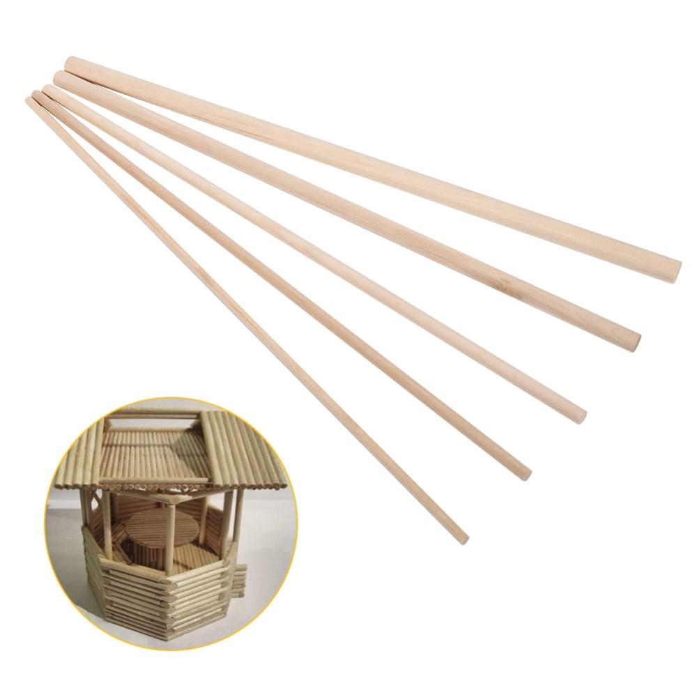 10 Uds 30cm de largo de bricolaje de artesanía palos pasadores Polo barras de dulce de los árboles de madera Herramienta 5 tamaños de gran oferta