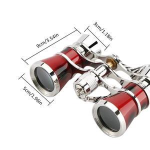 Новый открытый инструмент мини телескоп для кемпинга необходимая декорация запись опера очки Театр винтажные бинокли с цепочкой ожерелье