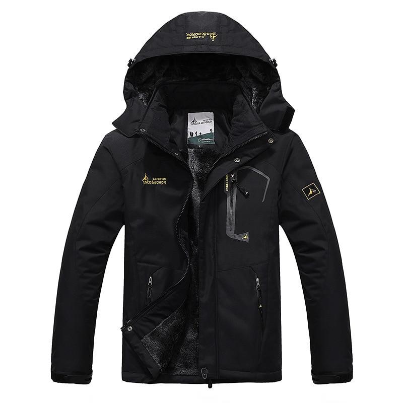 2019 chaqueta de senderismo impermeable de lana para hombres Softshell para deportes al aire libre cálido abrigo de invierno Camping Trekking chaqueta de esquí sudadera para hombre