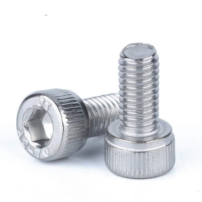 10pcs 1/4-20*3/8 1/2 5/8 2/1  Inch Length 304 Stainless Steel Us Unc Coarse Thread Allen Head Screw Cap Hex Hexagon Socket Bolt