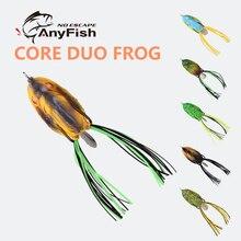 ANYFISH-leurre flottant DUO CORE grenouille, appât artificiel souple pour la pêche en surface, avec hameçons doubles, 3.5cm/6.7g, 4.5cm/11.5g