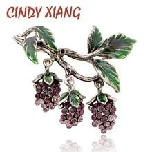 CINDY XIANG luxe strass raisins broches pour femmes mode fruits broches émail Vintage Design bijoux manteau accessoires cadeau