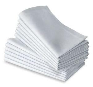 100% القطن عادي الأبيض منديل 50 سنتيمتر * 50 سنتيمتر