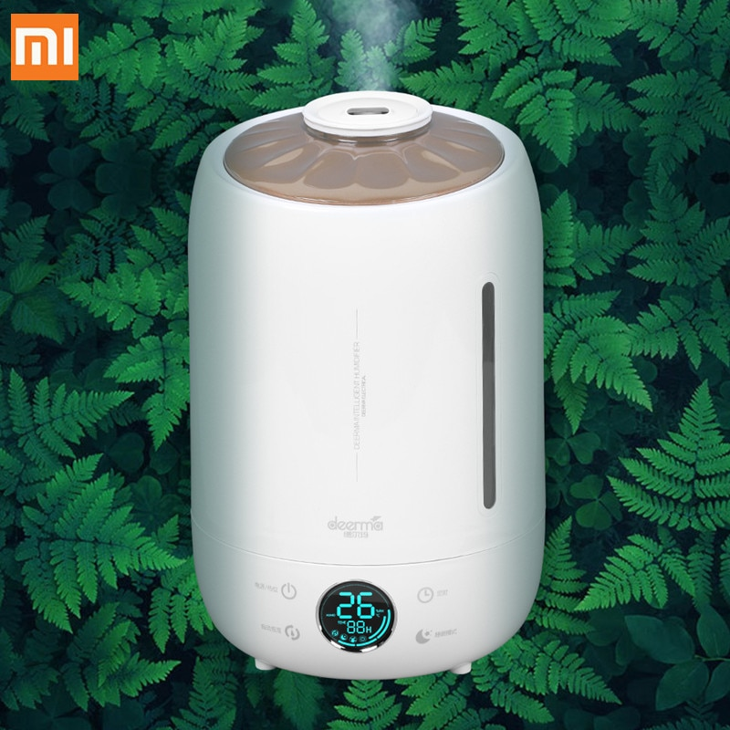 Humidificador de aire Deerma DEM-F500 5L, gran capacidad, Aroma silencioso, creador ultrasónico de niebla, pantalla táctil LED, difusor de agua