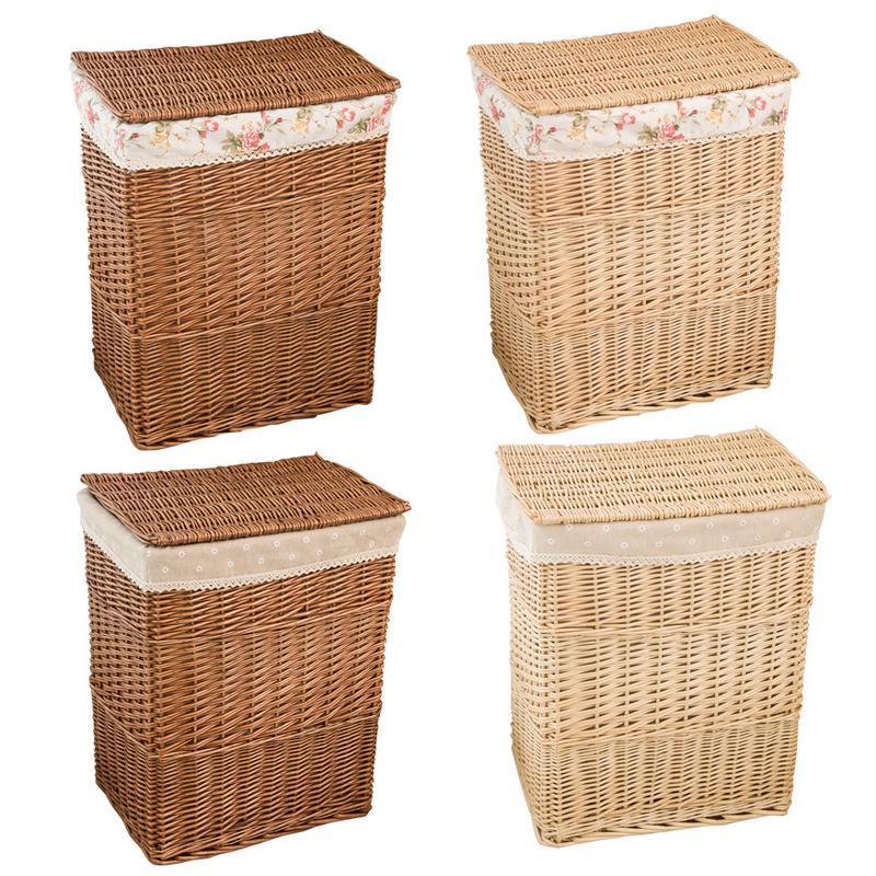 Cesta de armazenamento roupas sujas grande caixa de armazenamento de vime malha brinquedo roupas organizador cesta lavanderia cesta com tampa decoração para casa