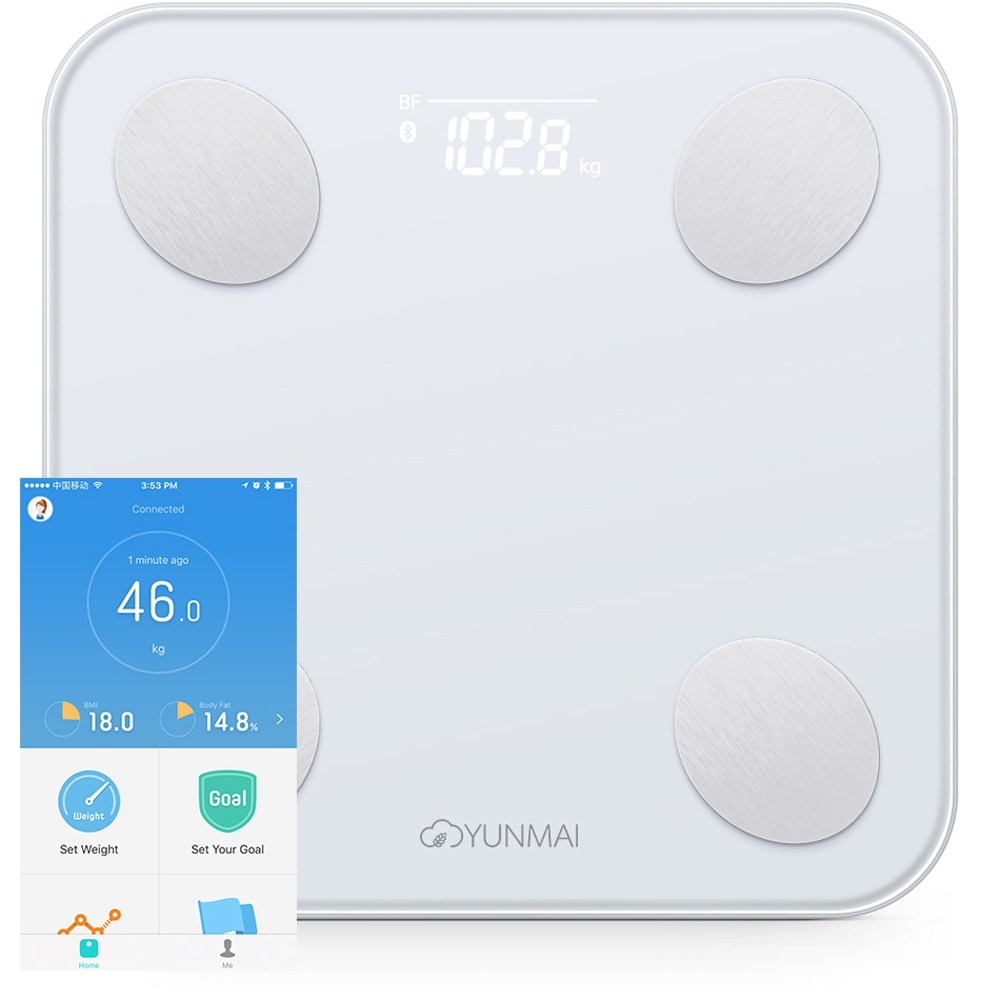 YUNMAI Mini 2 Balance Smart Body Fat Scale Intelligent Data Analysis APP Control Digital Weighing Tool From Youpin enlarge