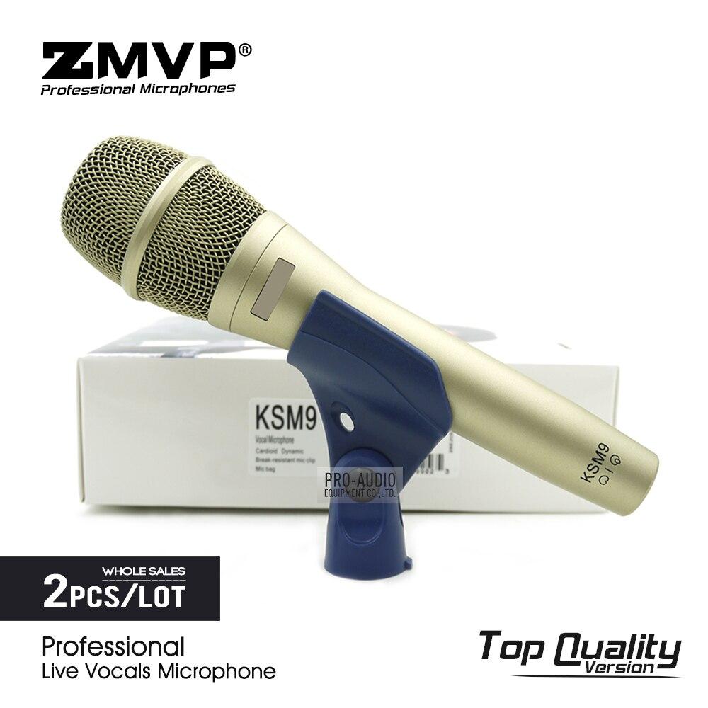 Vocais ao Vivo Microfone sem Fio Performance de Palco Lote Top Qualidade Profissional Podcast Supercardioid Dinâmico Karaoke Microfone 2 Ksm9c Pçs –