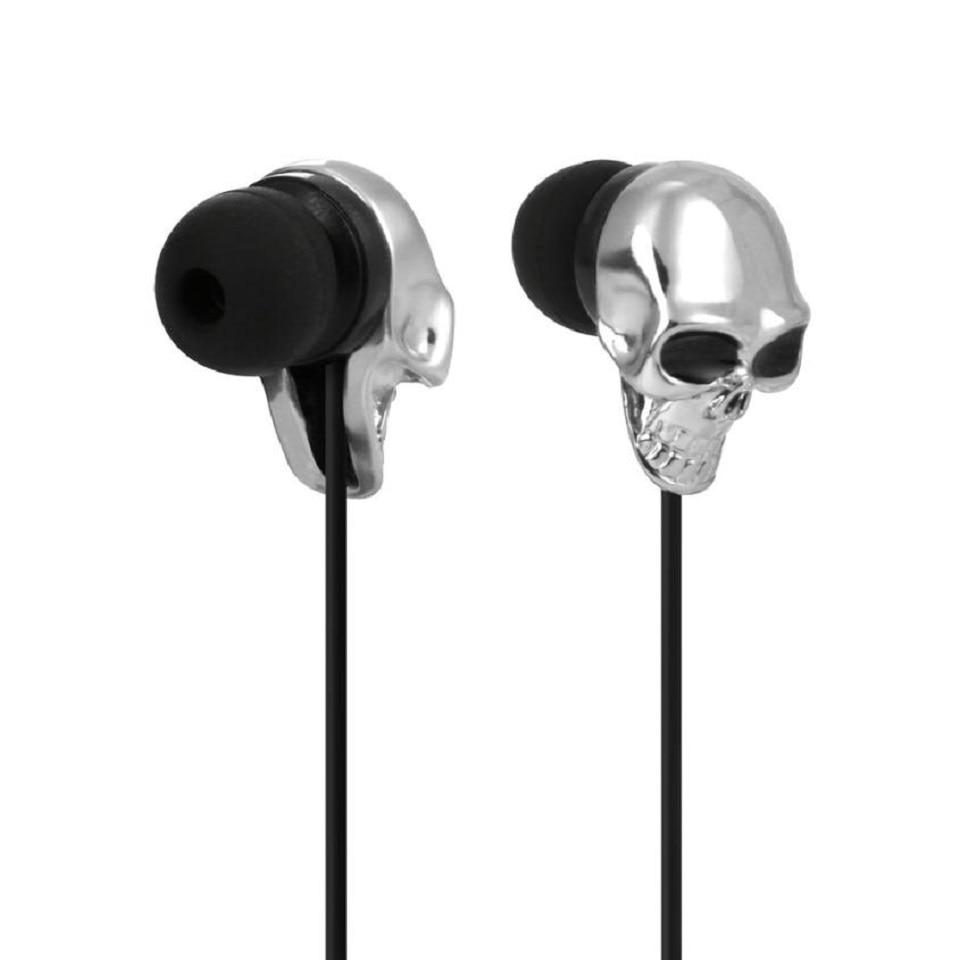 3,5 mmMetal cabeza esqueleto auriculares diseño único auricular Puerto Plata auricular de color en la oreja auriculares para teléfono inteligente iPod MP3 MP4