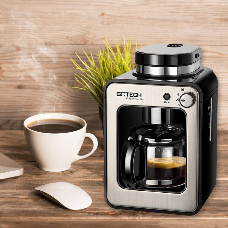 Broyeur une Machine à café goutte à goutte américaine ménage petits fabricants de thé disolation automatique 6686A
