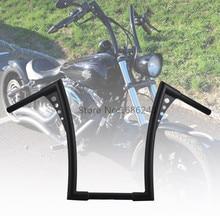 "Custom 17 Inch Rise APE Hanger Handlebars 1-1/4"" Fat Bar Handle Bar Fits for Harley Softail FLST FXST Sportster XL Dyna"