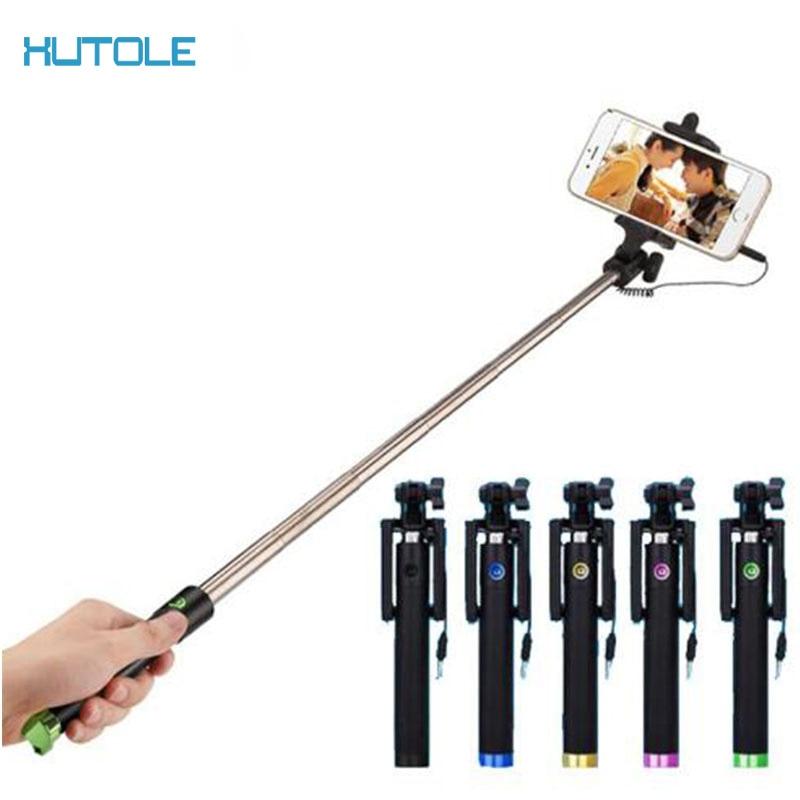Cable de Audio de palo selfie con Cable extensible Monopod de palo para el iPhone 6 plus 5 5S 4S IOS Samsung Android