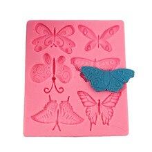 Molde de arcilla 3D mariposa de 6 uds., moldes de Panel de pared Diy para yeso, moldes de arcilla polímeros