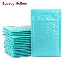 10PCS 4x7/inch 12x18cm Teal Green Poly Bubble Mailers Gevoerde Enveloppen Self Seal envelop Bubble Envelop Verzending Enveloppen