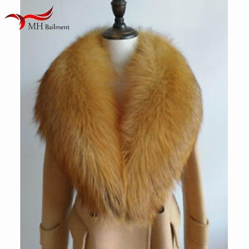 Women Winter New 100% Real Red Fox Fur Fur Collar Fashion Warm Wild Large Size Scarf Men And feminine Shawl Winter Warm Scarf